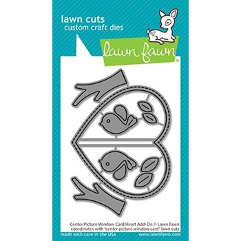 Lawn Fawn CENTER PICTURE WINDOW CARD HEART ADD-ON Die Cuts lf2473