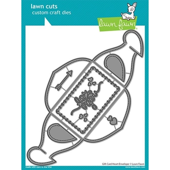 Lawn Fawn GIFT CARD HEART ENVELOPE Die Cuts lf2472