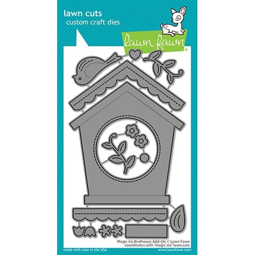 Lawn Fawn MAGIC IRIS BIRDHOUSE ADD-ON Die Cuts lf2471 Preview Image