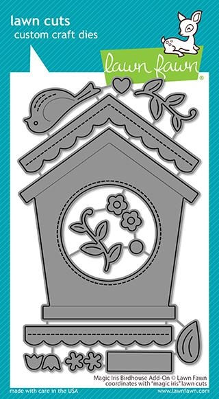 Lawn Fawn MAGIC IRIS BIRDHOUSE ADD-ON Die Cuts lf2471 zoom image
