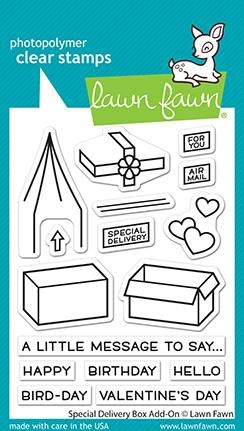 Lawn Fawn SPECIAL DELIVERY ADD-ON Clear Stamps lf2468 zoom image