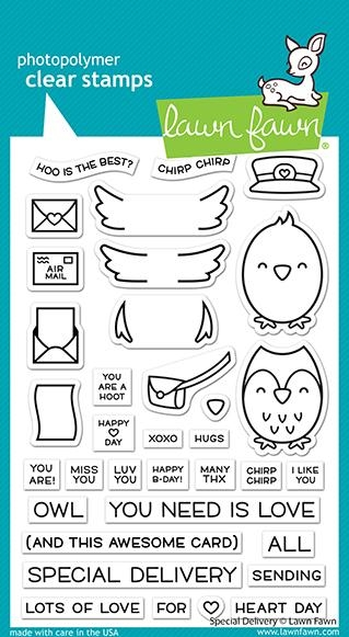 Lawn Fawn SPECIAL DELIVERY Clear Stamps lf2466 zoom image