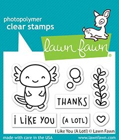 Lawn Fawn I LIKE YOU (A LOTL) Clear Stamps lf2464 zoom image