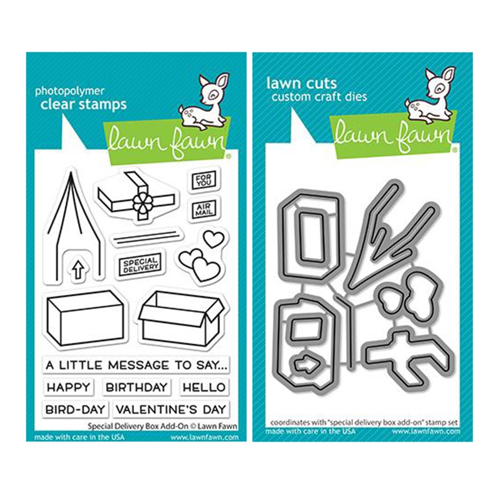Lawn Fawn SET SPECIAL DELIVERY ADD-ON Clear Stamps and Dies lflsdyao zoom image