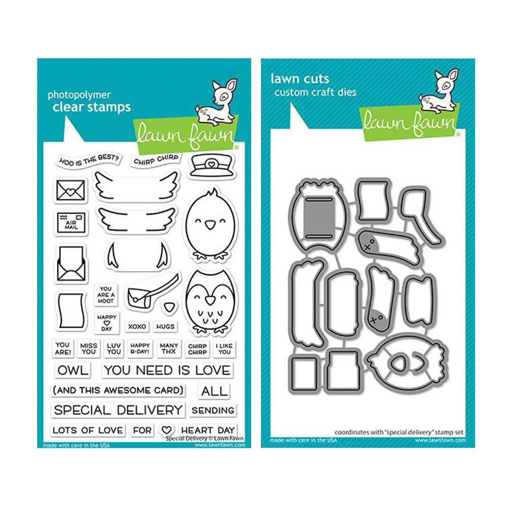 Lawn Fawn SET SPECIAL DELIVERY Clear Stamps and Dies lflsdy zoom image
