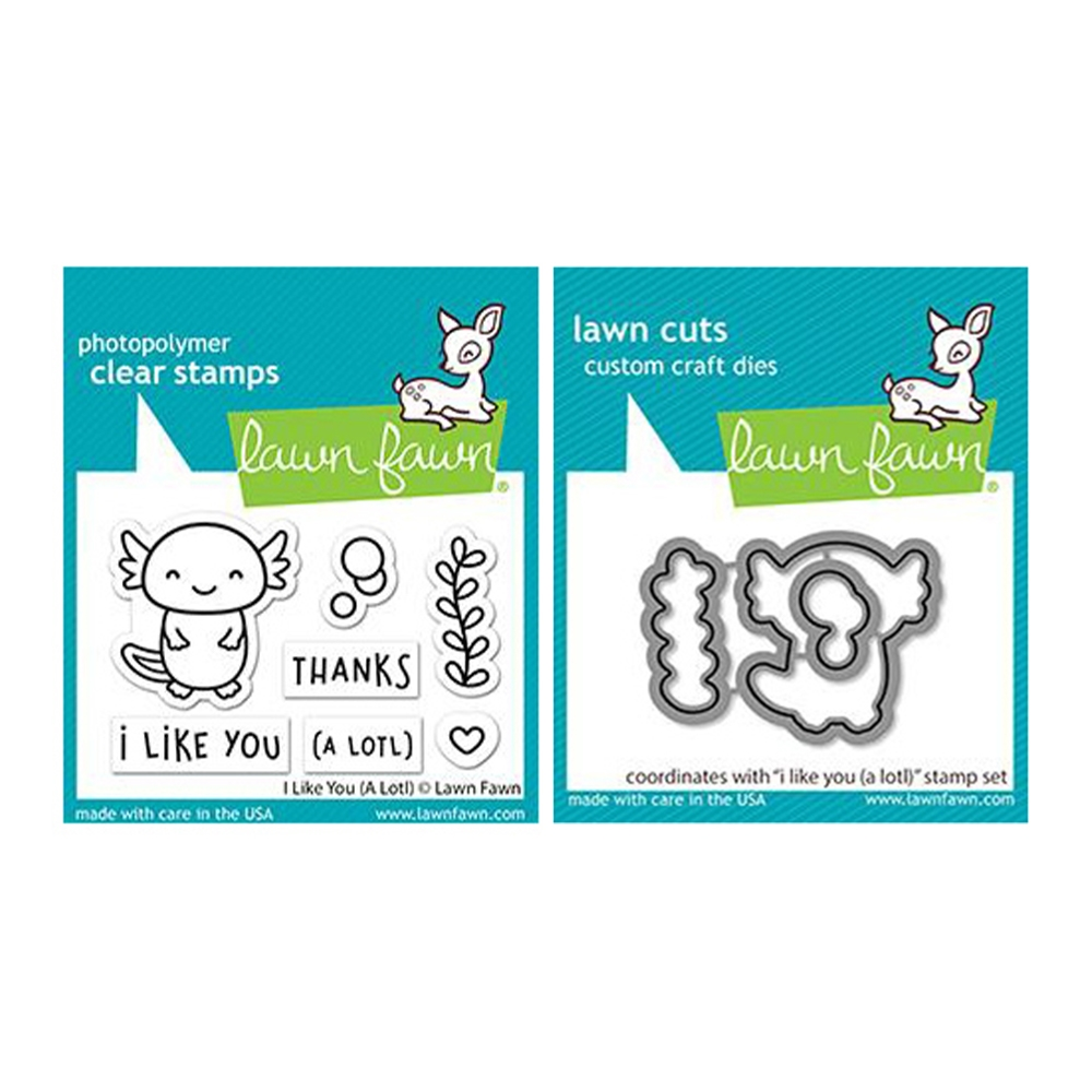 Lawn Fawn SET I LIKE YOU (A LOTL) Clear Stamps and Dies lflya zoom image