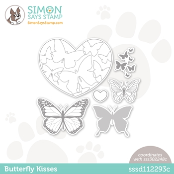 Simon Says Stamp BUTTERFLY KISSES Wafer Dies sssd112293c Love You