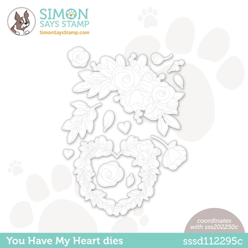 Simon Says Stamp YOU HAVE MY HEART Wafer Dies sssd112295c Love You Preview Image