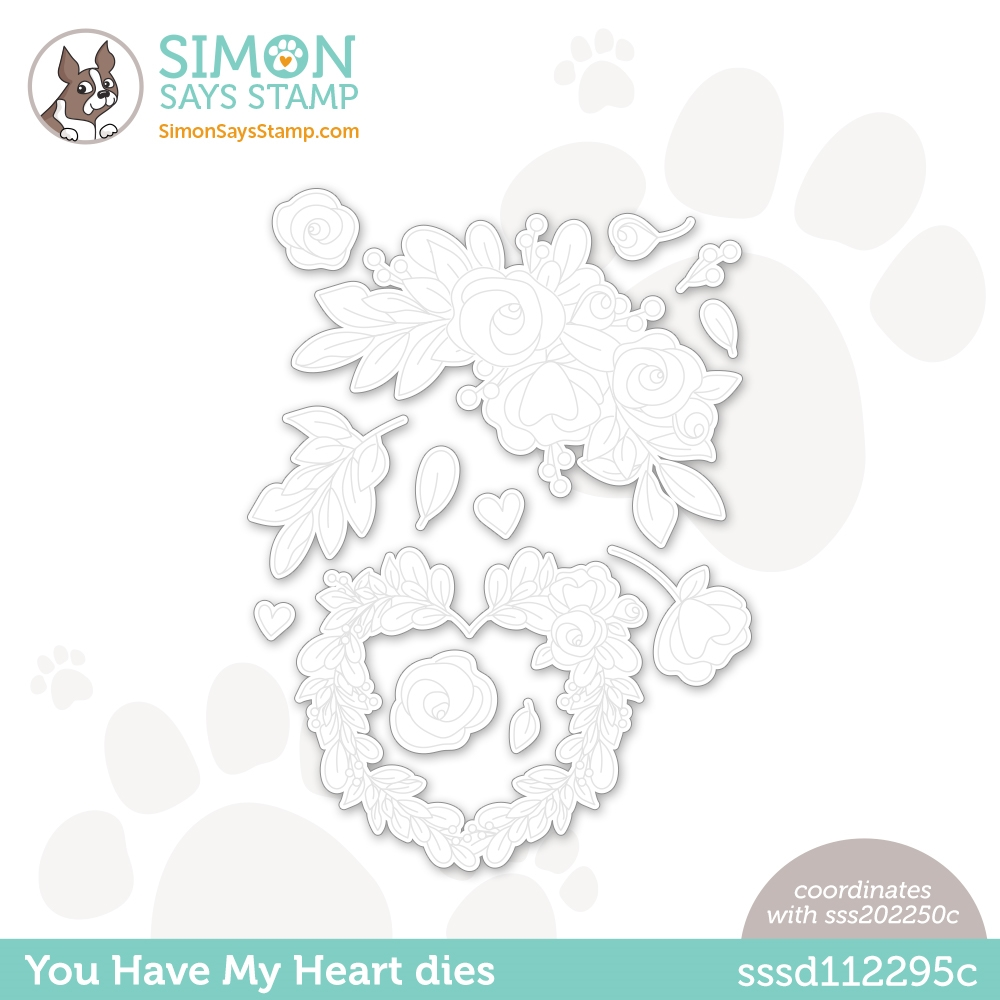 Simon Says Stamp YOU HAVE MY HEART Wafer Dies sssd112295c Love You zoom image
