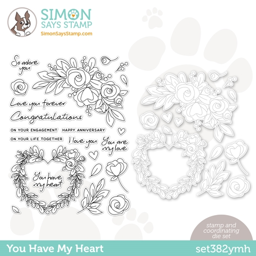 Simon Says Stamps and Dies YOU HAVE MY HEART set382ymh Love You Preview Image