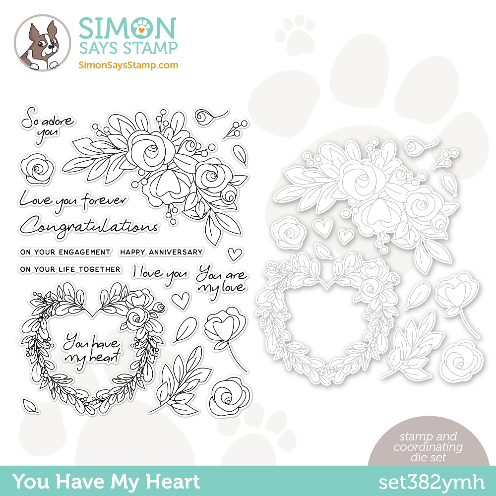 Simon Says Stamps and Dies YOU HAVE MY HEART set382ymh Love You zoom image