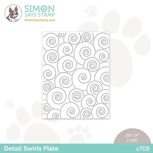 Simon Says Stamp DETAIL SWIRLS PLATE Wafer Die s708 Love You Preview Image