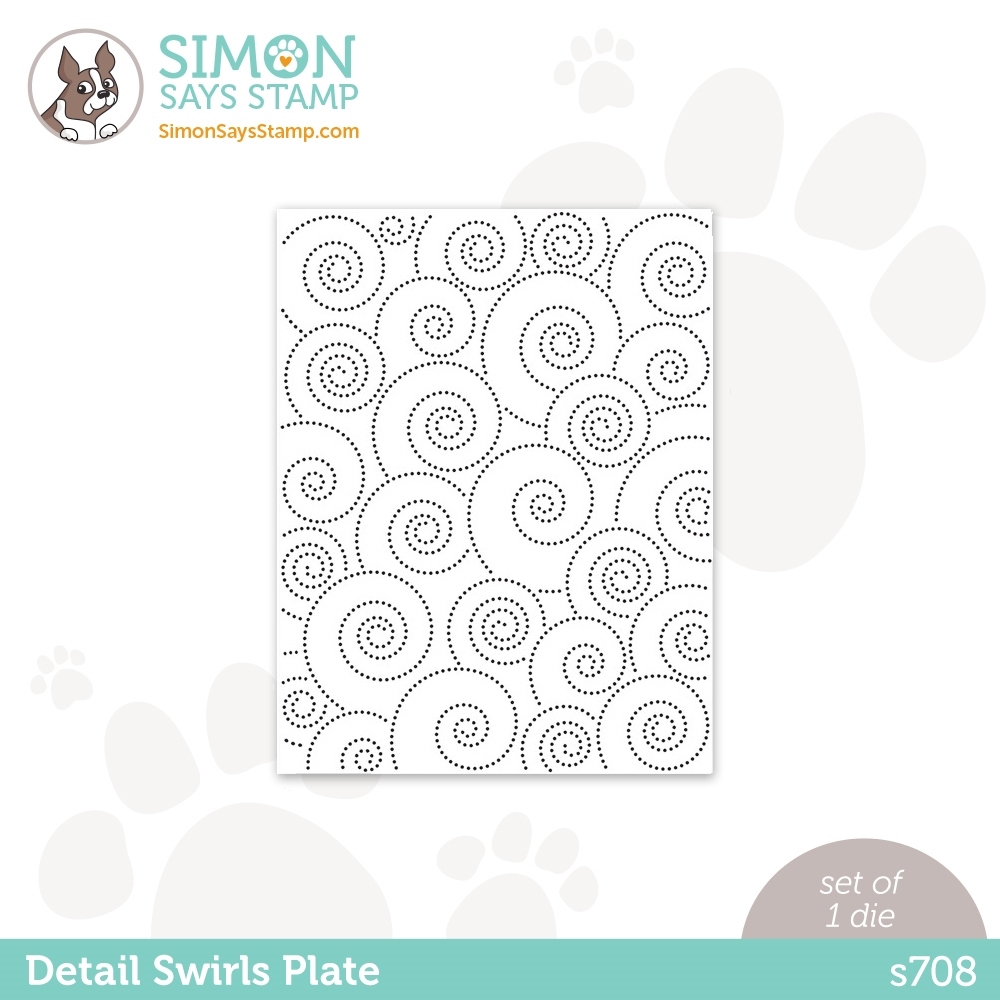 Simon Says Stamp DETAIL SWIRLS PLATE Wafer Die s708 Love You zoom image