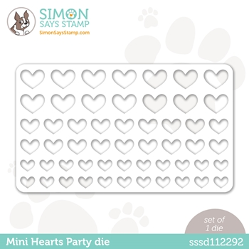 Simon Says Stamp MINI HEARTS PARTY Wafer Die sssd112292 Love You