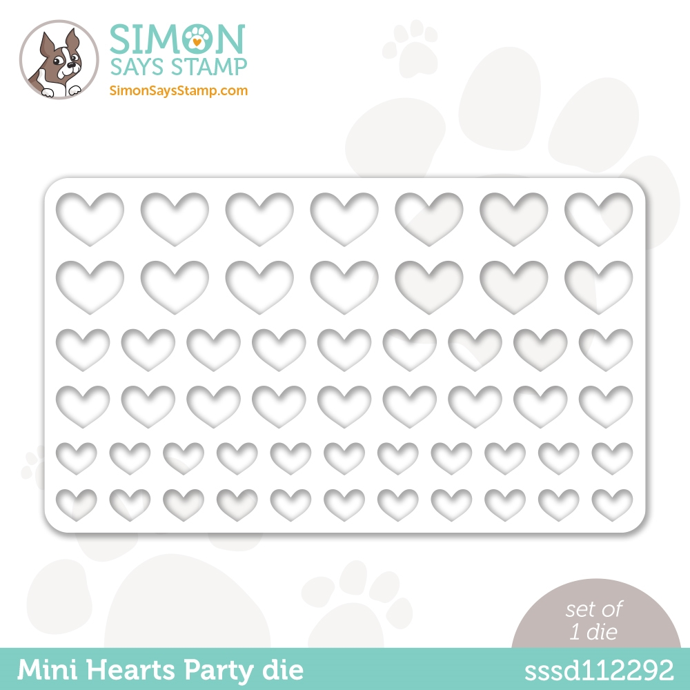 Simon Says Stamp MINI HEARTS PARTY Wafer Die sssd112292 Love You zoom image