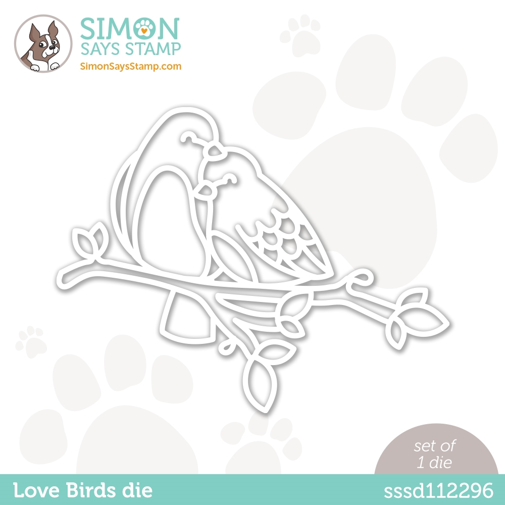 Simon Says Stamp LOVE BIRDS Wafer Die sssd112296 Love You zoom image