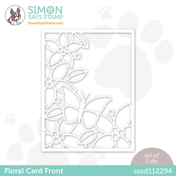 Simon Says Stamp FLORAL CARD FRONT Wafer Die sssd112294 Love You