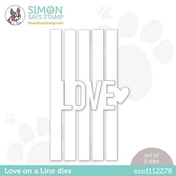 Simon Says Stamp LOVE ON A LINE Wafer Dies sssd112278 Love You