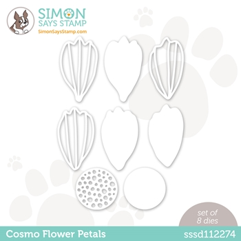 Simon Says Stamp COSMO FLOWER PETALS Wafer Dies sssd112274 Love You