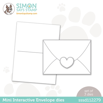 Simon Says Stamp MINI INTERACTIVE ENVELOPE Wafer Dies sssd112279 Love You