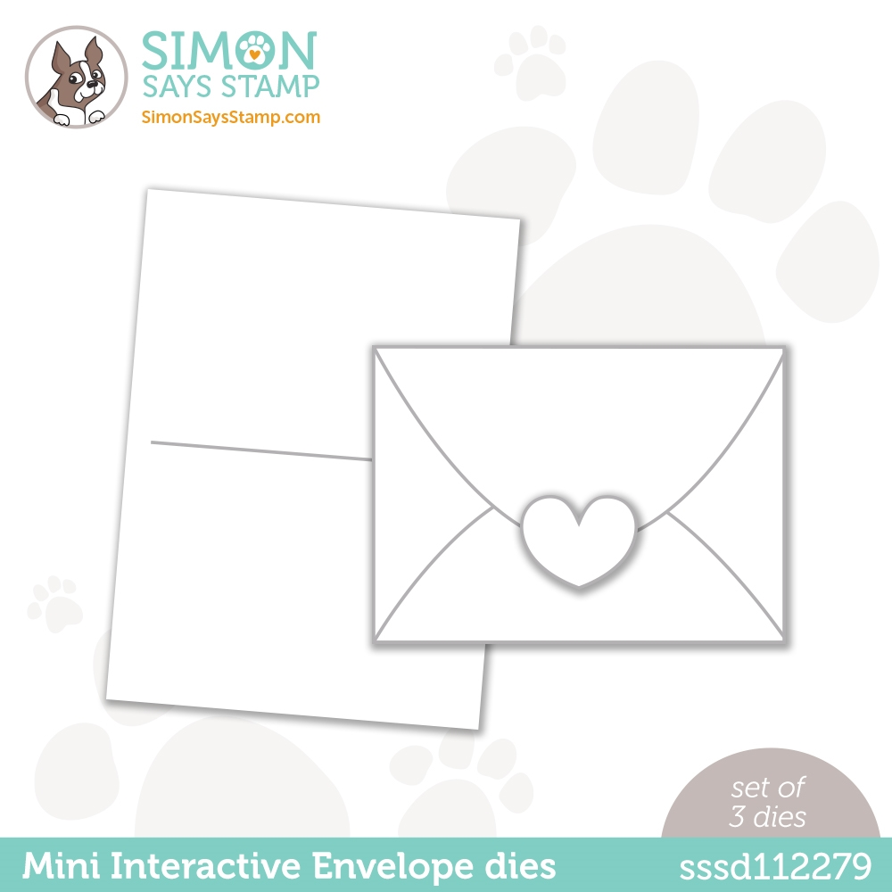 Simon Says Stamp MINI INTERACTIVE ENVELOPE Wafer Dies sssd112279 Love You zoom image