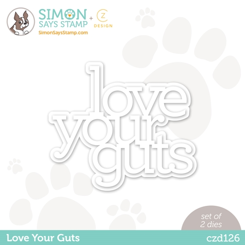 CZ Design Wafer Dies LOVE YOUR GUTS czd126 Love You Preview Image