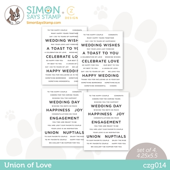 CZ Designs SENTIMENT STRIPS UNION OF LOVE czg014 Love You