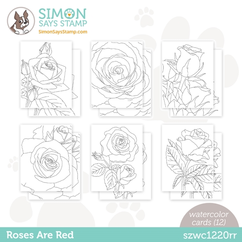 Simon Says Stamp Suzy's ROSES ARE RED Watercolor Prints szwc1220rr Love You Preview Image