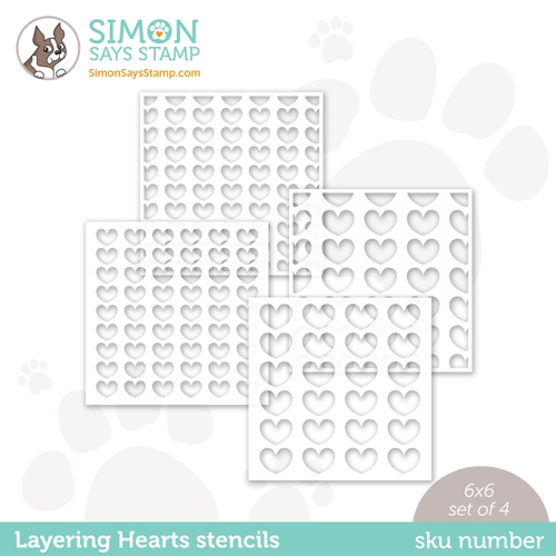 Simon Says Stamp Stencil LAYERING HEARTS ssst121508 Love You Preview Image