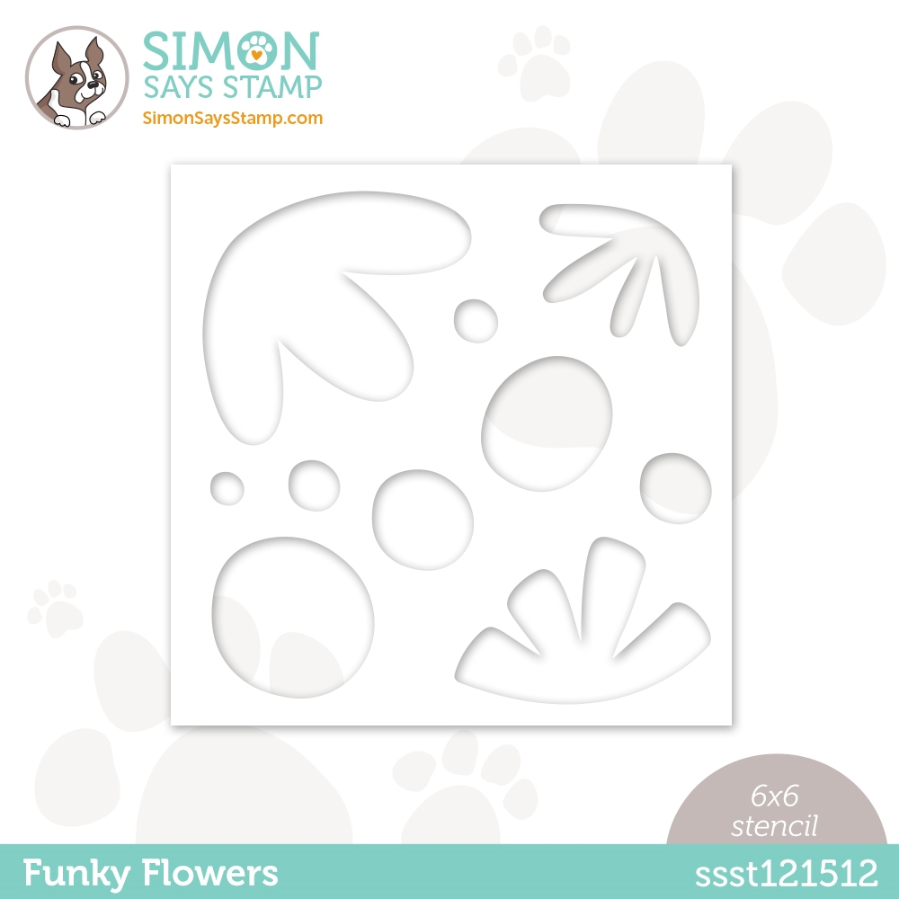 Simon Says Stamp Stencil FUNKY FLOWERS ssst121512 Love You zoom image