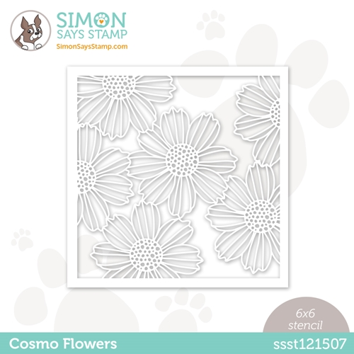Simon Says Stamp Stencil COSMO FLOWERS ssst121507 Love You Preview Image