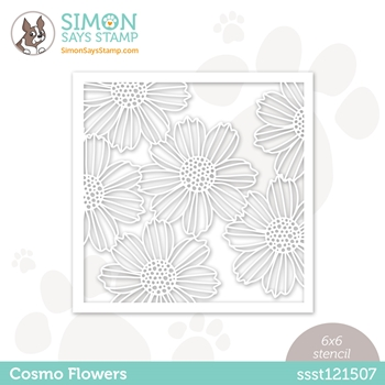 Simon Says Stamp Stencil COSMO FLOWERS ssst121507 Love You