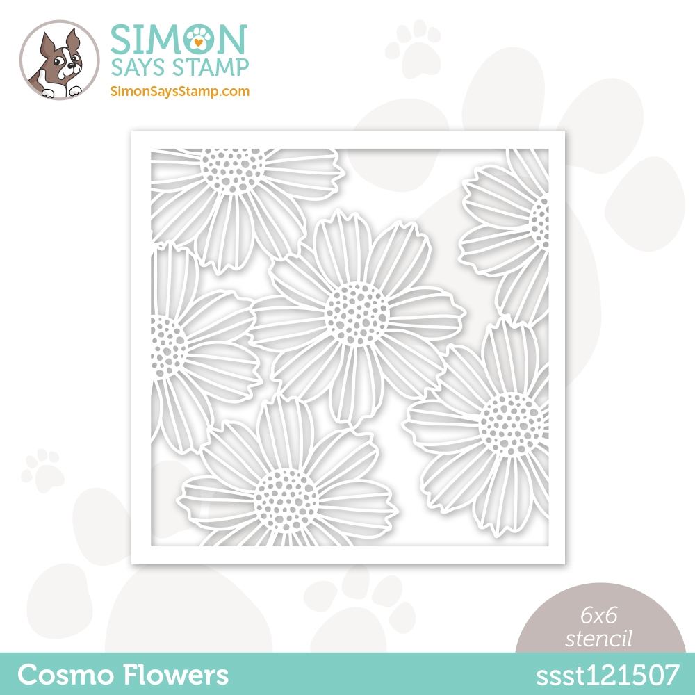 Simon Says Stamp Stencil COSMO FLOWERS ssst121507 Love You zoom image