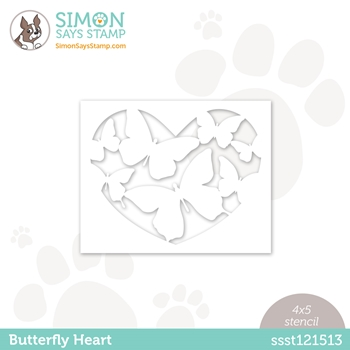 Simon Says Stamp Stencil BUTTERFLY LOVE ssst121513 Love You