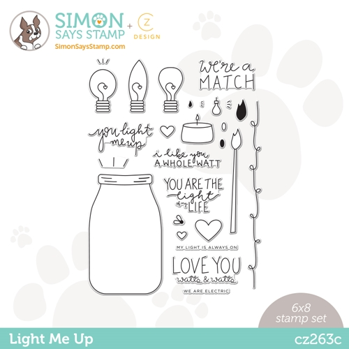 CZ Design Clear Stamps LIGHT ME UP cz263c Love You Preview Image