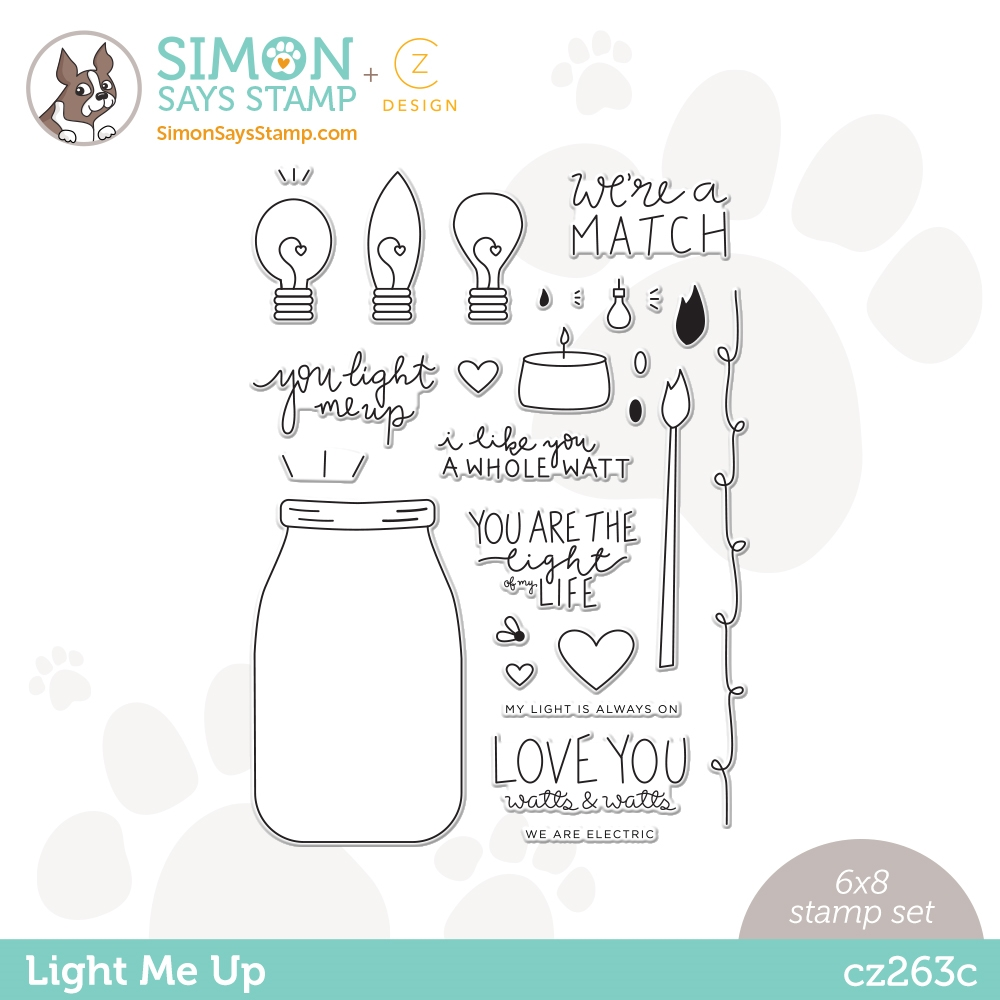 CZ Design Clear Stamps LIGHT ME UP cz263c Love You zoom image