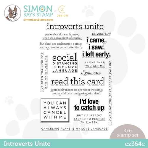 CZ Design Clear Stamps INTROVERTS UNITE cz364c Love You Preview Image