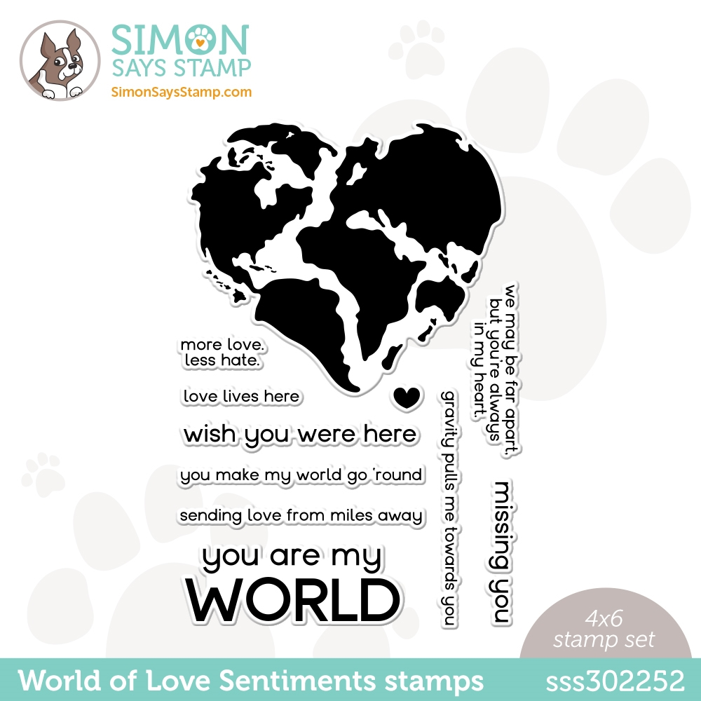 Simon Says Clear Stamps WORLD OF LOVE SENTIMENTS sss302252 Love You zoom image