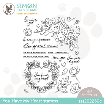 Simon Says Clear Stamps YOU HAVE MY HEART sss202250c Love You