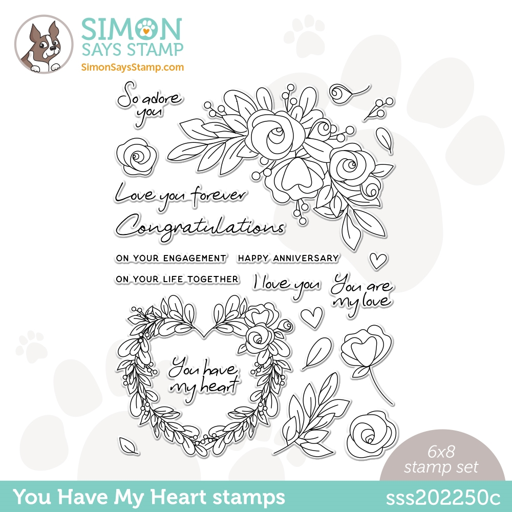 Simon Says Clear Stamps YOU HAVE MY HEART sss202250c Love You zoom image