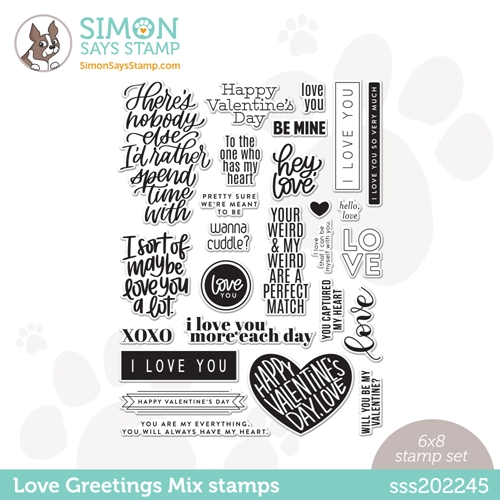 Simon Says Clear Stamps LOVE GREETINGS MIX sss202245 Love You Preview Image