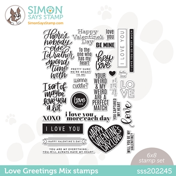 Simon Says Clear Stamps LOVE GREETINGS MIX sss202245 Love You