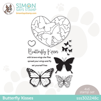 Simon Says Clear Stamps BUTTERFLY KISSES sss302248c Love You