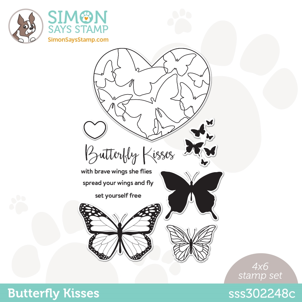 Simon Says Clear Stamps BUTTERFLY KISSES sss302248c Love You zoom image