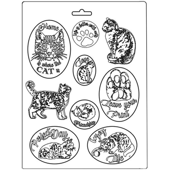Stamperia CATS Soft Mold k3pta483*