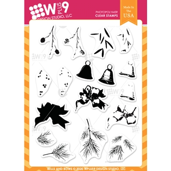 Wplus9 BELLS AND BOWS Clear Stamps clwp9bebo