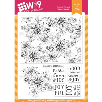 Wplus9 JOYFUL POINSETTIA Clear Stamps clwp9jopo