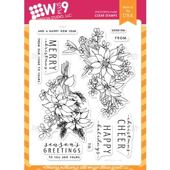 Wplus9 POINSETTIA BOUQUETS Clear Stamps clwp9pobo*