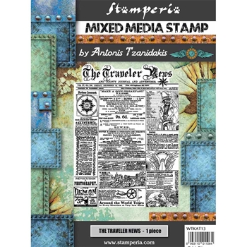 Stamperia SIR VAGABOND THE TRAVELER NEWS Stamp wtkat13
