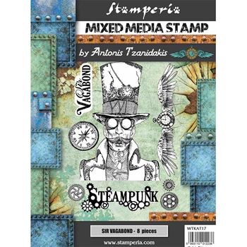 Stamperia SIR VAGABOND STEAMPUNK Stamps wtkat17